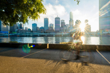 Cyclists in South Bank, Brisbane 2