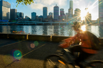 Cyclists in South Bank, Brisbane 4