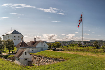Trondheim Kristiansten Fortress and the Captains House Fototapete