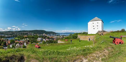 Trondheim Kristiansten Fortress Panoramic Stitch Fototapete
