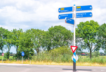 Roadsigns to cities in Gelderland