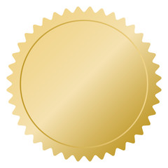 Premium quality golden label over white background. Gold sign shiny badge. Best choice, price limited edition, dor sale sticker. Vector illustration logo.