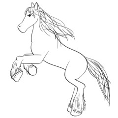 Clydesdale Horse Outline