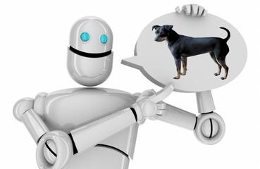 Photo sur Aluminium Dauphins Dog Animal Pet Robot Technology Speech Bubble 3d Illustration