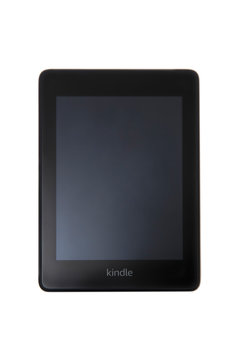 Amazon Kindle ebook reader. It s a serie of e-readers designed and marketed by Amazon.