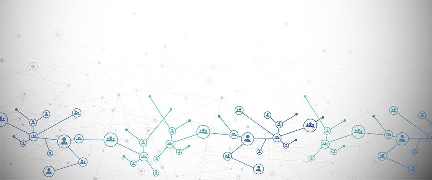 sfondo, connessioni, linee, punti, internet, connessione, informatica