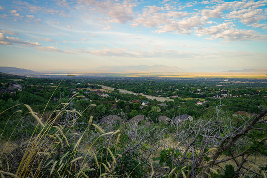 View of the valley near Layton, Utah
