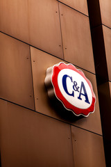 C&A store in Zurich, Switzerland. C&A is an international chain of fashion retail clothing stores founded at 1841 in Netherland.