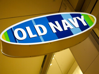 Old Navy clothing store in Alberta, Canada. Old Navy is a popular clothing and accessories retailer owned by American multinational corporation Gap Inc.