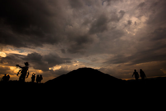 Teotihuacán al atardecer