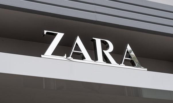 Zara Retail Store Exterior and Logo