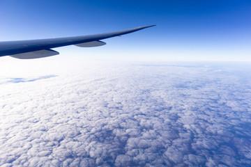 In flight above cloud