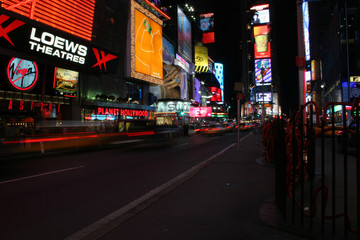 Times square, New York, at night. Taken in June 2005.
