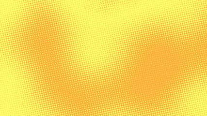Yellow orange pop art background with halftone dotted design in retro comic style, vector illustration eps10