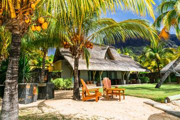 Wall Mural - Tropical beach villa. Mauritius island hollidays