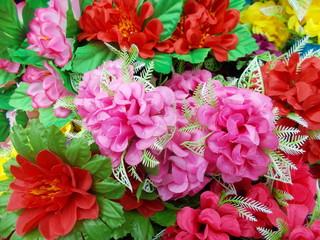 Papiers peints Azalea bright fabric flowers for designer cards