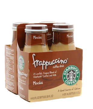 IRVINE, CA - January 11, 2013: A 4 pack of Starbucks Frappuccino Coffee Drink. Seattle based Starbucks is the largest coffeehouse company in the world, with over 20,000 stores in 62 countries.