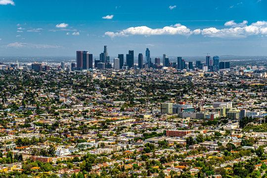View of Los Angeles skyline, California, USA