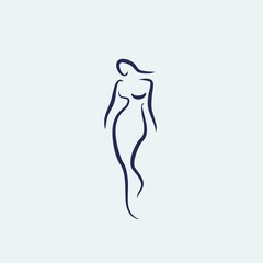 woman shape walking icon vector