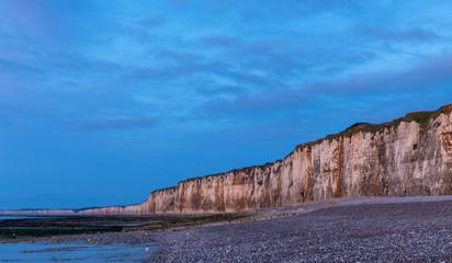 Sonnenuntergang in Saint-Valery-en-Caux in der Normandie