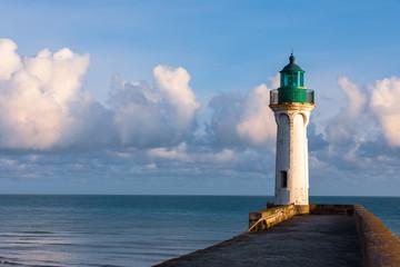 Leuchtturm in Sain-Valery-en-Caux in der Normandie