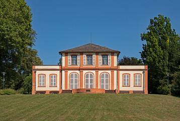 Prinz-Emil-Schlößchen im Prinz-Emil-Garten in Darmstadt, Hessen, Deutschland
