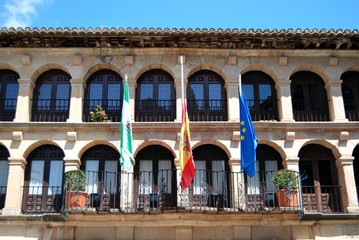 Front view of the town hall (Ayuntamiento), Ronda, Andalusia, Spain.