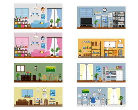部屋数種のセット