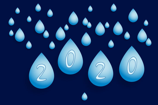 Background with dripping a rain. Vector illustration