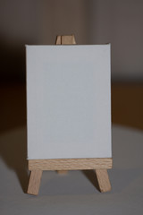 Small white blank easel