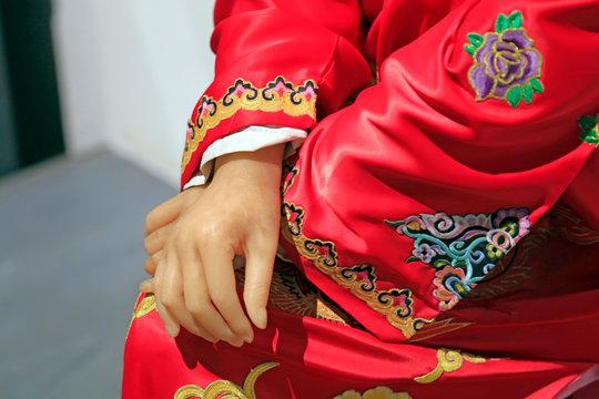Peking opera character Dress Wax arm