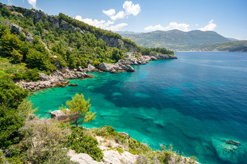amazing view on coast in Himare, albanian riviera, Albania