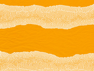 Mustard Yellow Coral Reef Textured Art Paper Background