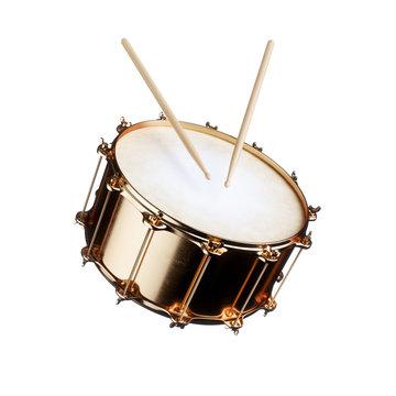 Golden drum isolated