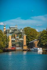 Schiffshebewerk Henrichenburg am Kanal in NRW