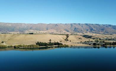 Aerial view Lake Dunstan, Otago, New Zealand