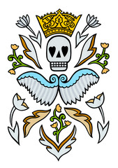 A death skull design