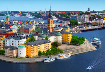 Printed kitchen splashbacks Northern Europe Panorama of Stockholm, Sweden