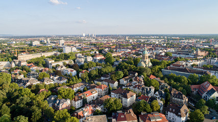 Aerial View Cityscape of Mannheim Germany Wall mural