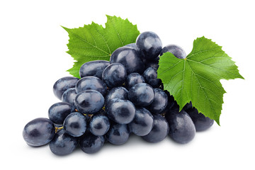 purple grape, isolated on white background, clipping path, full depth of field Fototapete