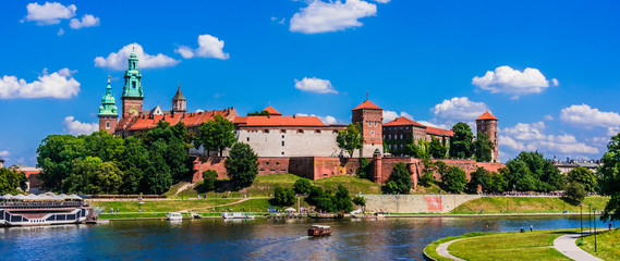 Deurstickers Krakau View of Wawel Castle in Krakow, Poland