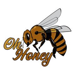 Oh Honey Honeybee Pun