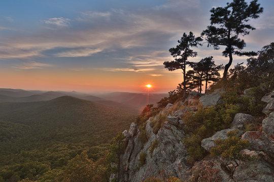 epic Arkansas sunset national forest flatside wilderness