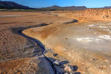 Landscape in Namaskard geothermal area, Iceland
