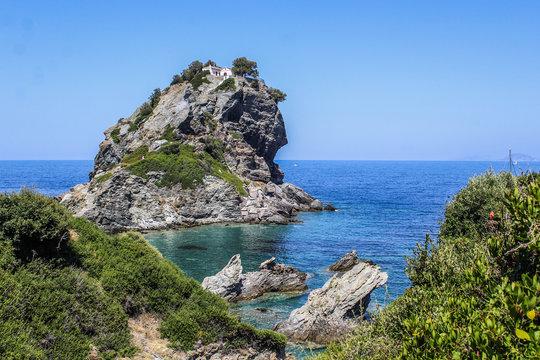 Agios Ioannis mamma mia- seaside of Greek island Skopelos