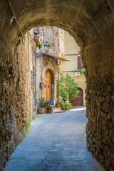 Scenic sight in Bocchignano beautiful village in Rieti Province, Lazio, Italy.