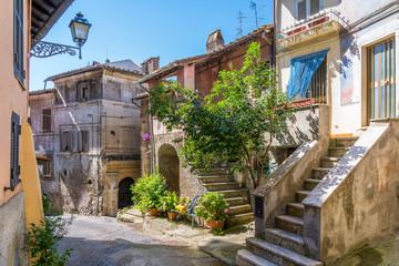 Scenic sight in the village of Carbognano, Province of Viterbo, Lazio, Italy.