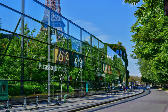 Paris; France - may 21 2017 : quai branly museum