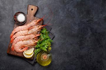 Fresh seafood. Langostino shrimps