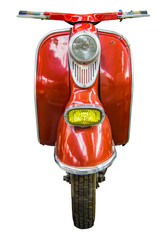 Fotorolgordijn Scooter Isolated Vintage Scooter